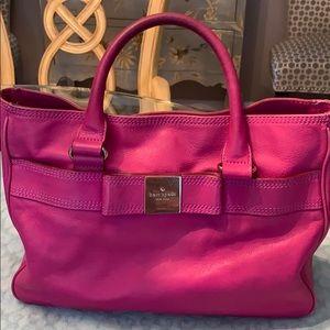 Kate Spade Fushia handbag with bow accessory
